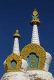 Белое Stupas Стоковые Фото