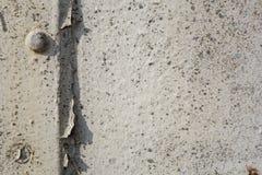 Белой grungy покрашенная белизной деталь поверхности металла Стоковое фото RF