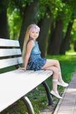 Белокурая маленькая девочка стоковые изображения rf