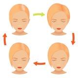 Белокурая обработка волос женщины Стоковое Изображение
