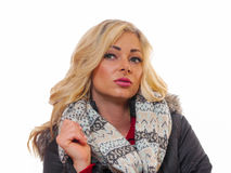 белокурая представляя женщина Стоковое Изображение RF