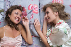 Белокурые сестры или сексуальные подруги имея потеху Стоковая Фотография