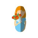 белокурый букет беременной женщины иллюстрация вектора
