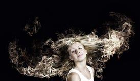 Белокурый в огне Стоковая Фотография RF