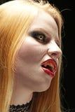 Белокурый портрет вампира Стоковое Изображение RF