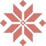 Белорусская традиционная вышитая картина стоковое изображение rf