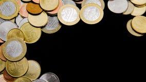 Белорусские монетки на черной предпосылке Стоковое Изображение RF