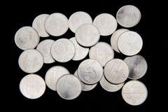 Белорусские монетки на черной предпосылке Стоковые Фотографии RF
