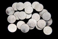 Белорусские монетки на черной предпосылке Стоковое Изображение