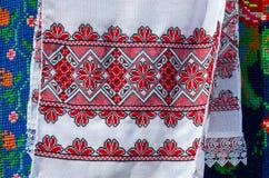 Белорусские полотенца с вышитым традиционным орнаментом стоковые изображения rf