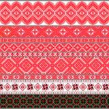 Белорусские традиционные картины, орнаменты Комплект 4 стоковое изображение rf