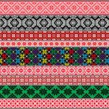 Белорусские традиционные картины, орнаменты 2 установленного орнамента стоковое изображение rf
