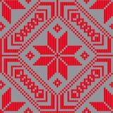 Белорусский этнический орнамент, безшовная картина также вектор иллюстрации притяжки corel Стоковые Фотографии RF