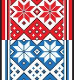 Белорусский этнический орнамент, безшовная картина также вектор иллюстрации притяжки corel Стоковое фото RF