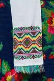 Белорусское полотенце с красочными геометрическими картинами стоковое изображение