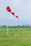 Бело-красный windsock стоковые изображения