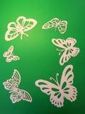 Белые бабочки. Бумажное вырезывание. Стоковые Изображения