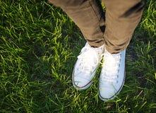 Белые ботинки Стоковые Фото