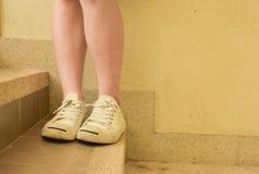Белые ботинки Стоковое фото RF