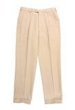 Белые брюки стоковое изображение rf