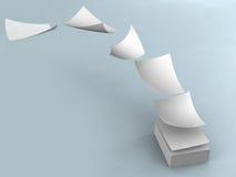 Белые бумаги иллюстрация вектора