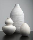 Белые вазы Стоковое Изображение