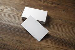 Белые визитные карточки Стоковые Фото