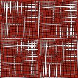 Белые геометрические формы на красной предпосылке Стоковая Фотография RF