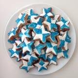 Белые голубые звезды Стоковые Фото