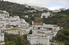 Белые Дома на холме Стоковое Изображение RF