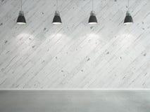 Прокатанные стена и светильники иллюстрация вектора