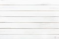 Белые естественные покрашенные деревянные текстура и предпосылка Стоковая Фотография RF