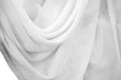 Белые занавесы Стоковое Фото