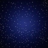 Белые звезды в голубой и темной предпосылке Стоковые Фото