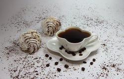 Белые зерна десерта и кофе Стоковые Изображения RF