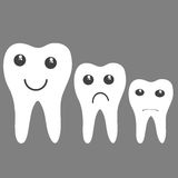 Белые зубы с эмоцией Стоковое Фото