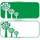 Белые и зеленые деревья Бесплатная Иллюстрация