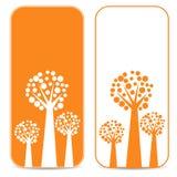 Белые и оранжевые деревья Стоковые Изображения RF