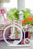 Белые и розовые украшения свадьбы Стоковое Изображение RF