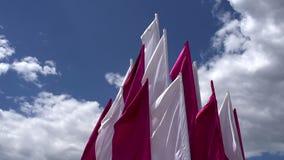 Белые и фиолетовые знамена акции видеоматериалы