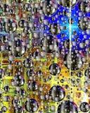 Белые и черные пузыри Стоковое Изображение RF