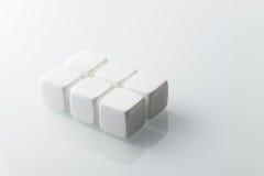 Белые камни вискиа установленные 6 Стоковая Фотография RF