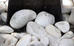 Белые камни и утюг Стоковая Фотография RF