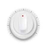 Белые кнопка/ручка на белой предпосылке Иллюстрация штока