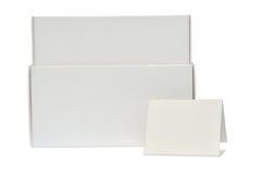 Белые коробки и бирка Стоковое фото RF