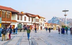 Белые коттеджи Анкары Стоковое Изображение
