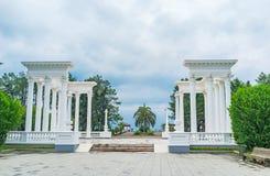 Белые колоннады Стоковая Фотография RF
