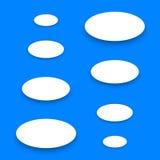 Белые материальные кнопки бумаги дизайна с тенью Стоковые Изображения