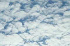 Белые облака над морем, живая природа севера Стоковые Фото
