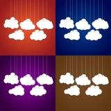 Белые облака на потоке на предпосылке Комплект Стоковая Фотография RF